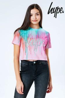 Hype. Mint Drips Crop T-Shirt
