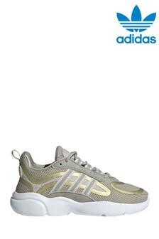 adidas Originals Beige/Gold Haiwee Junior Trainers