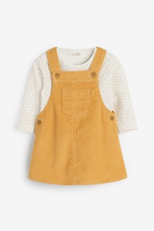 Ochre Cord Dress And Bodysuit (0mths-2yrs)