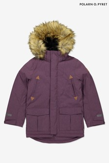 Polarn O Pyret Purple Waterproof Parka Coat