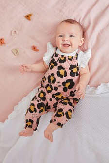 Animal Dungarees And Bodysuit Set (0mths-2yrs)