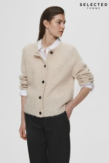 Selected Femme Beige Supersoft Cropped Cardigan
