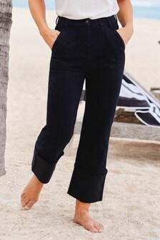 Inky Blue Emma Willis Turn-Up Straight Jeans
