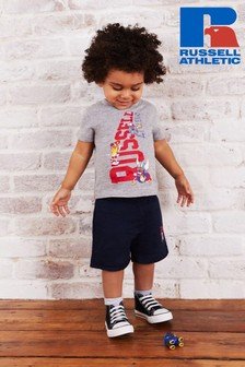 Russell Athletic Stairway T-Shirt & Jersey Short Set
