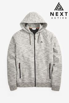 Grey Zip Through Hoody Sports Jersey