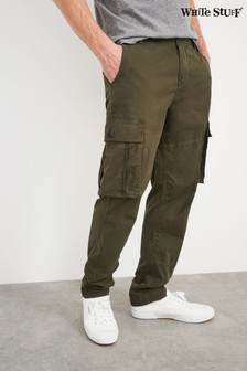White Stuff Green Trent Cargo Trousers