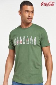 Khaki Coca-Cola® Licence T-Shirt