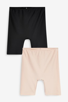 Black/Nude Smoothing Longline Shorts Two Pack