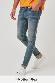 Vintage Wash Slim Fit Motion Flex Stretch Jeans