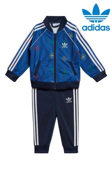 adidas Originals Little Kids Jacquard Superstar Tracksuit Set