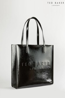 Ted Baker Abzcon Crinkle Patent Embossed Large Icon Bag