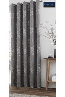 Curtina Elmwood Jacquard Lined Eyelet Curtains