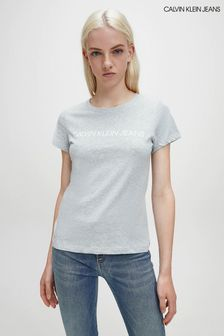 Calvin Klein Jeans Grey Institutional Logo T-Shirt