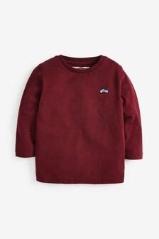 Dark Red Long Sleeve Plain T-Shirt (3mths-7yrs)