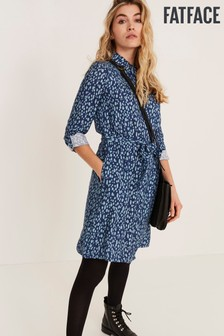 FatFace Blue Bernie Dappled Mark Make Dress