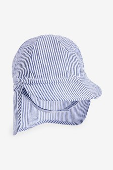 Blue Stripe Legionnaire Hat (0mths-2yrs)