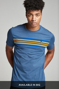 Blue Chest Stripe Regular Fit T-Shirt