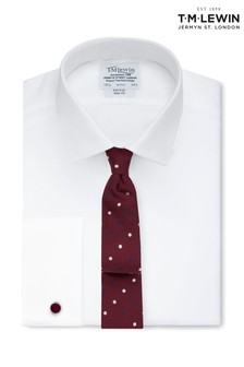 T.M. Lewin Non Iron White Twill Slim Fit Shirt