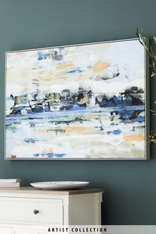 Artist Collection 'Shoreline Reflection' Canvas by Soozy Barker