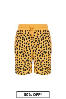 Boys Orange Cotton Shorts