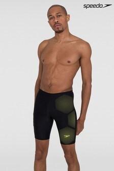 Speedo Black Tech Placement Jammer Swim Shorts