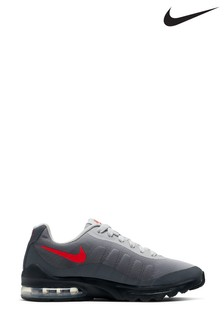 Nike Gray/Red Air Max Invigor Youth Trainers