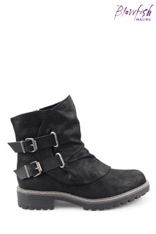Blowfish Blacksand Rigley4Earth Recycled Plastic Ankle Boots