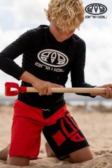 Animal Red Layka Semi-Elasticated Board Shorts