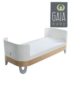 White/Natural Gaia Serena Bed Extension By Gaia Baby