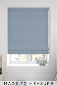 Leta Sky Blue Made To Measure Roman Blind