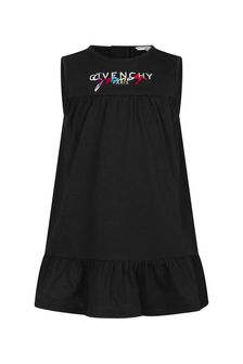 Givenchy Kids Baby Girls Black Cotton Dress