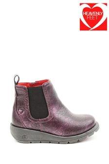 Heavenly Feet Purple Junior Girls Ankle Boots