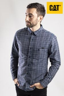 CAT® Lifestyle Blue Radford Long Sleeve Shirt
