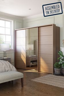Mirror-oak Elmsmore Extra Large Sliding Wardrobe