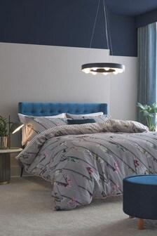 100% Cotton Sateen Alexandra Floral Duvet Cover And Pillowcase Set