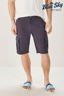 Navy Cargo Mr Blue Sky Organic Cotton Shorts