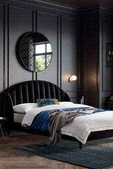 Opulent Velvet Black Stella Bed