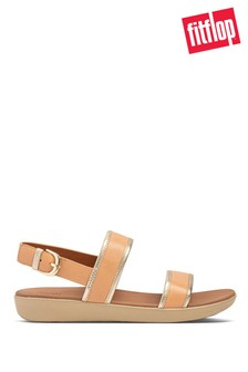 FitFlop Nude Barra Mixed Metallics Leather Back-Strap Sandals