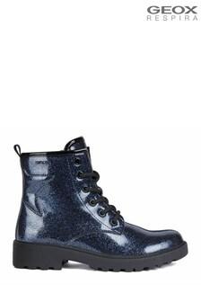 Geox Junior Girls Casey Navy Boots