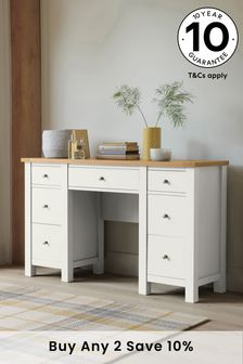 Chalk Malvern Storage Dressing Table / Desk