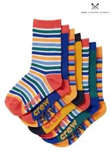 Crew Clothing Company Yellow Bamboo Socks 7 Pack