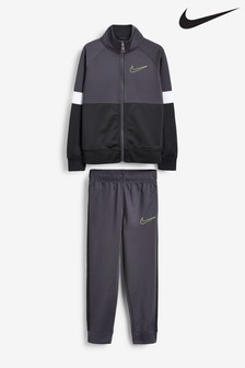Nike Little Kids Grey Colourblock Tricot Tracksuit