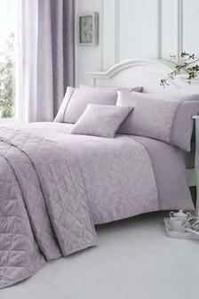 Ebony Jacquard Duvet Cover And Pillowcase Set by Serene