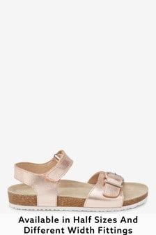 Rose Gold Standard Fit (F) Corkbed Sandals (Older)