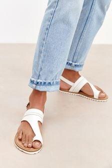 Cream Regular/Wide Fit Forever Comfort® Toe Loop Sandals