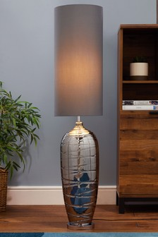 Smoke Drizzle Floor Lamp