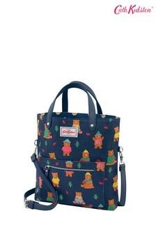 Cath Kidston® Blue Reversible Cross Body Bag Woodland Bear