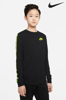 Nike Black Taped Long Sleeve T-Shirt