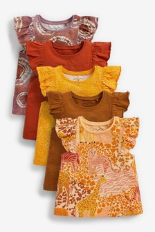 Rust Safari 5 Pack Vests (3mths-7yrs)
