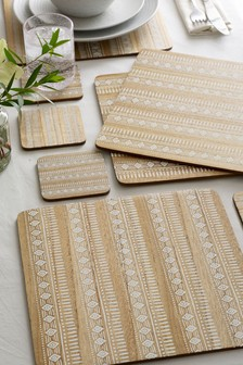 Set of 4 Global Placemats And Coasters
